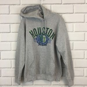 Houston Texas Pull Over Gray Sweatshirt Hoodie